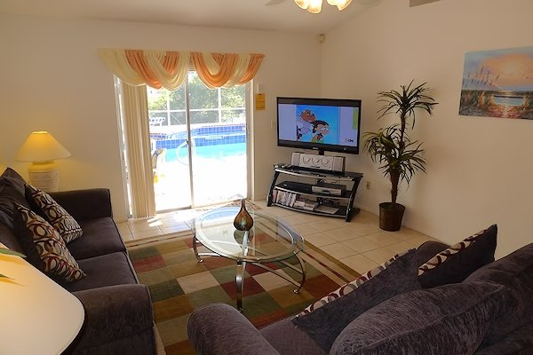 Living Area with Large TV