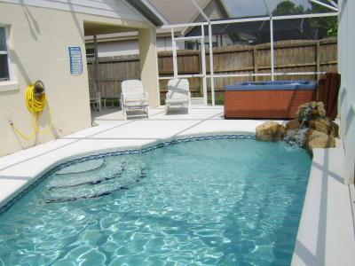 South facing pool and hot tub