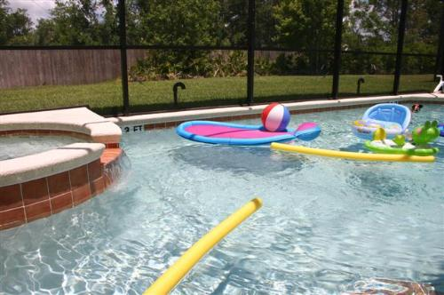 Pool toys are supplied