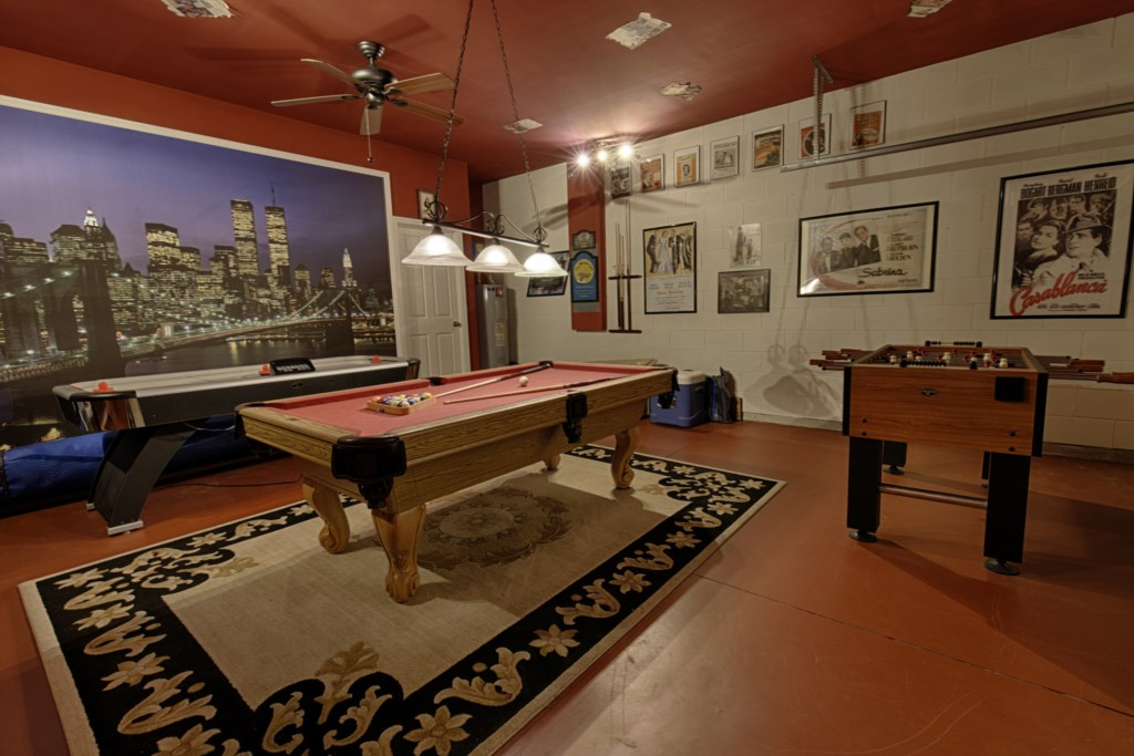WHAT A GAMES ROOM.