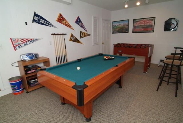 AIR-CONDITIONED GAMES ROOM.