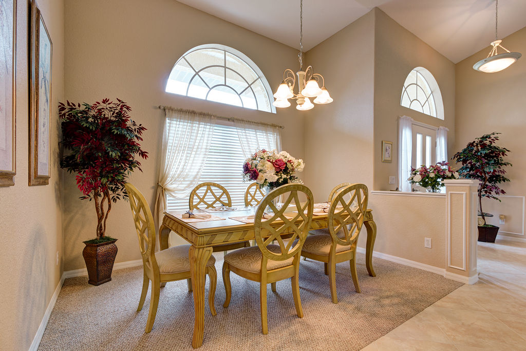 Eat in the formal dining room