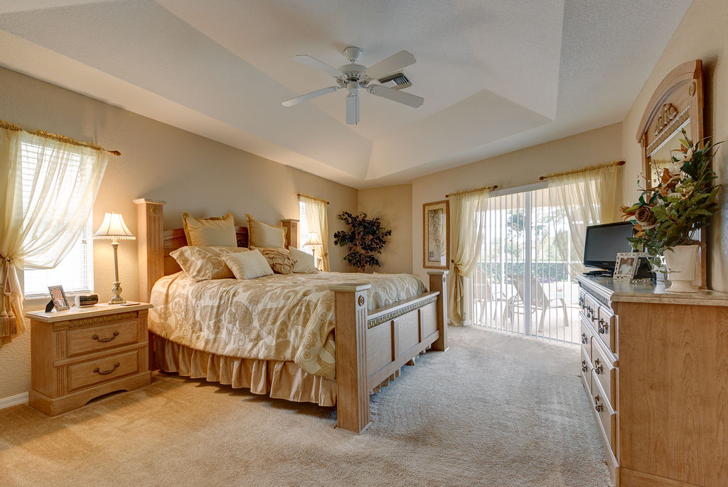 Master suite with pool access