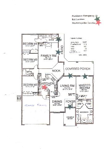 Floor Plan for 2400 sq ft vill