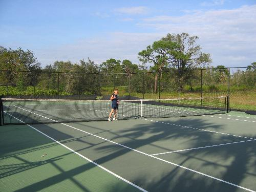 Tennis at the clubhouse