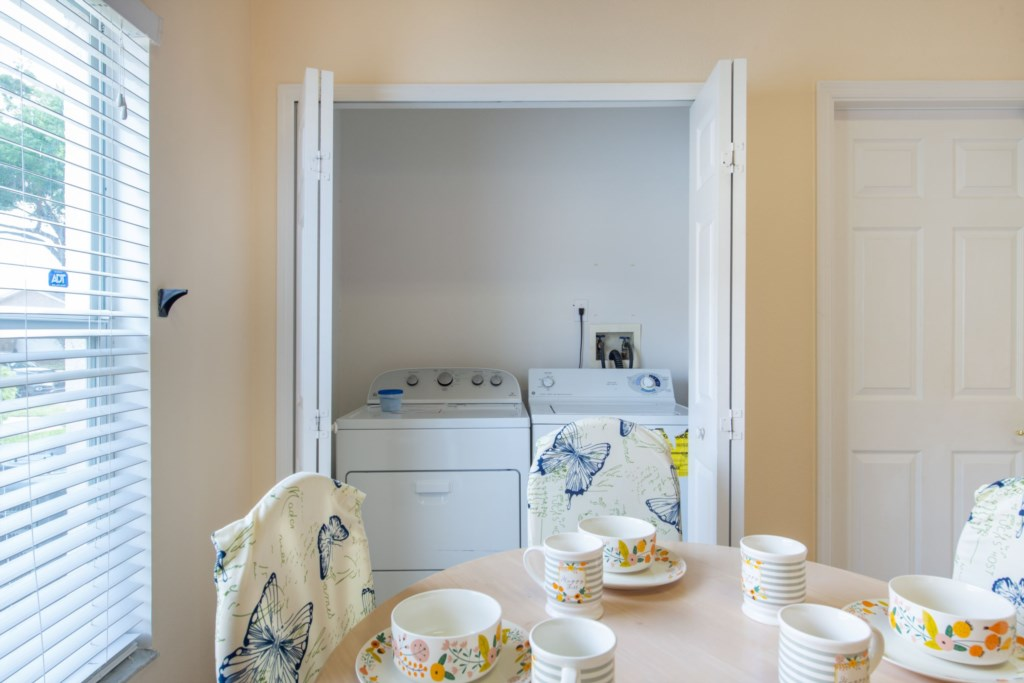 Washer & Dryer behind Bi-Fold