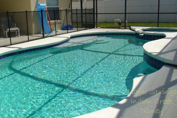 Large sunny pool