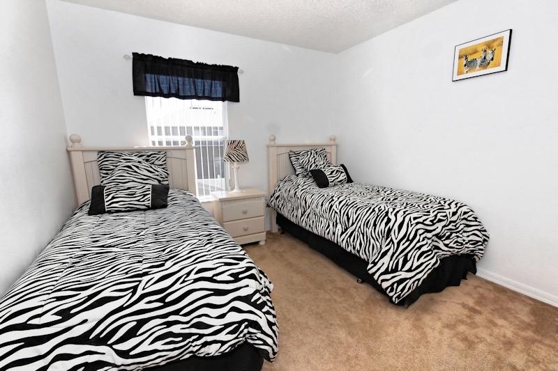 Twin Zebra Room