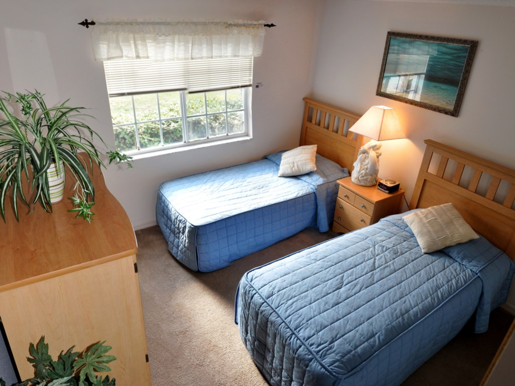 The 2nd Bedroom features two T