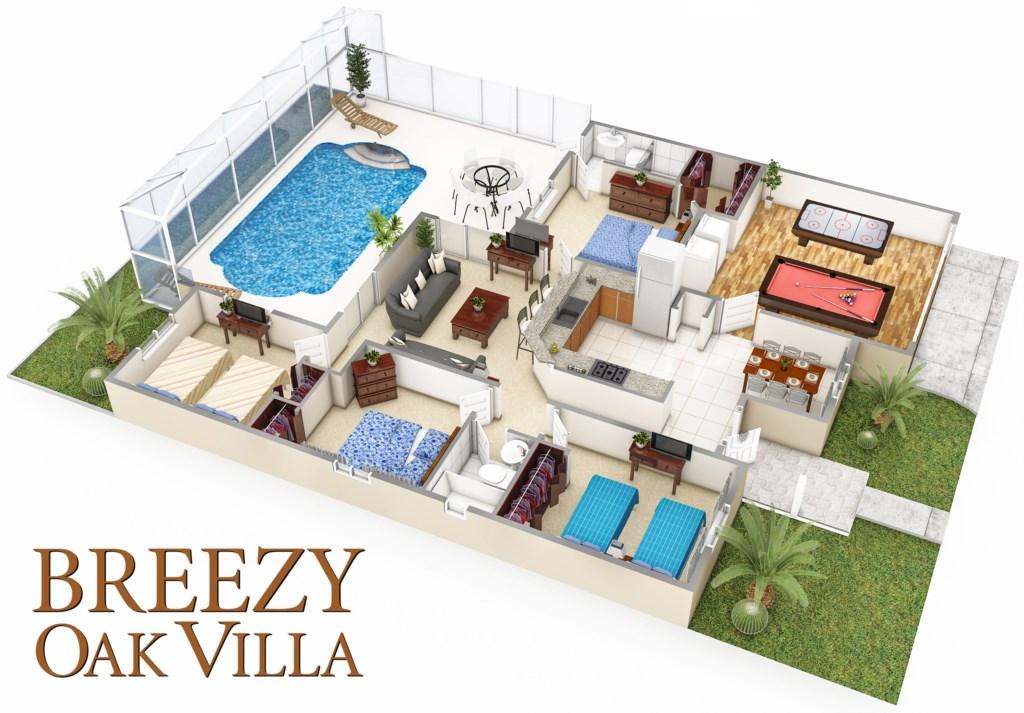 Breezy Oak Villa - Your vacati