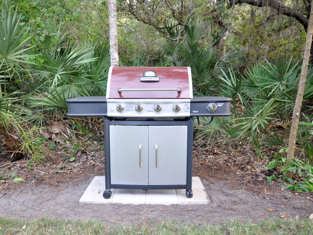 A full-size propane BBQ is ava