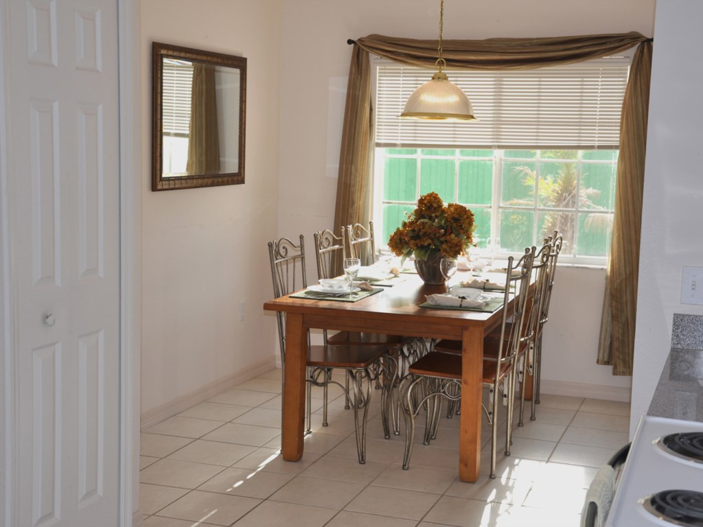 The Dining Area off the kitche