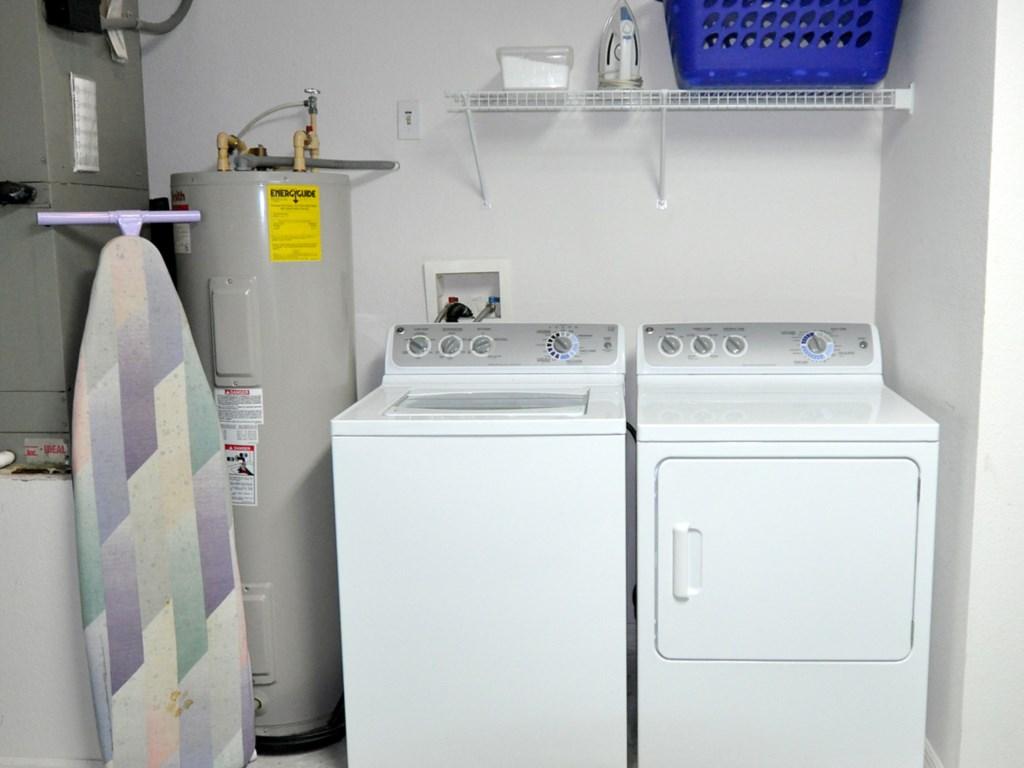 Full size laundry facilities a