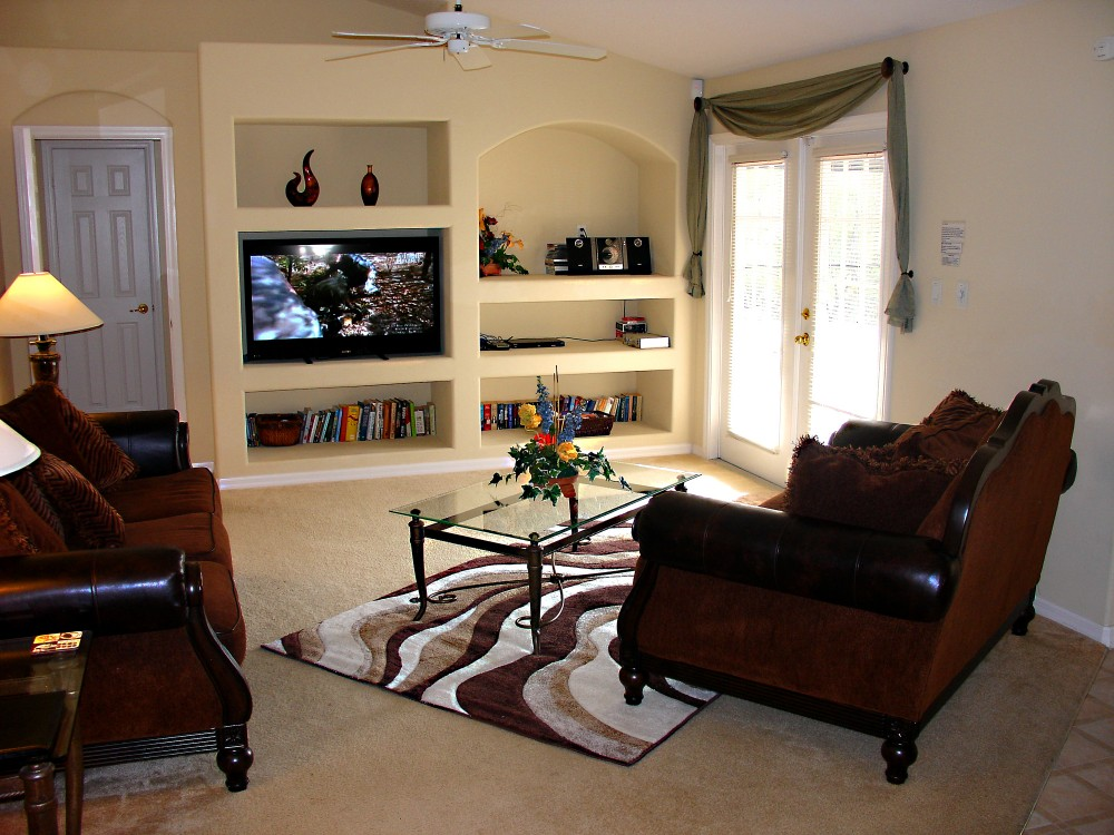 Family room with large 50 inch