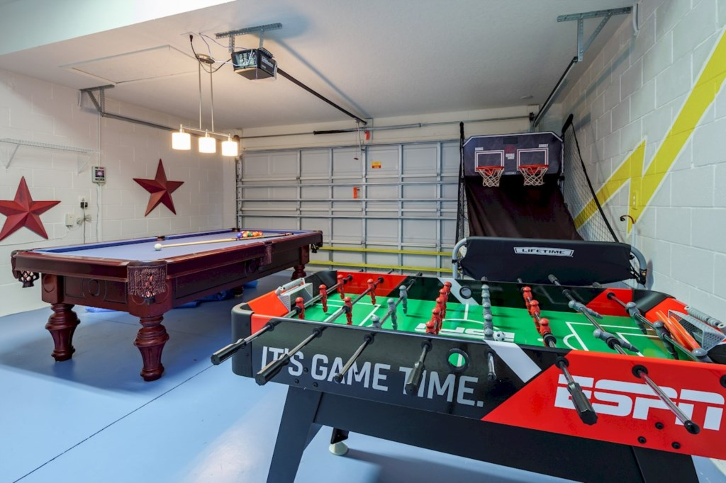 Well equiped Games room