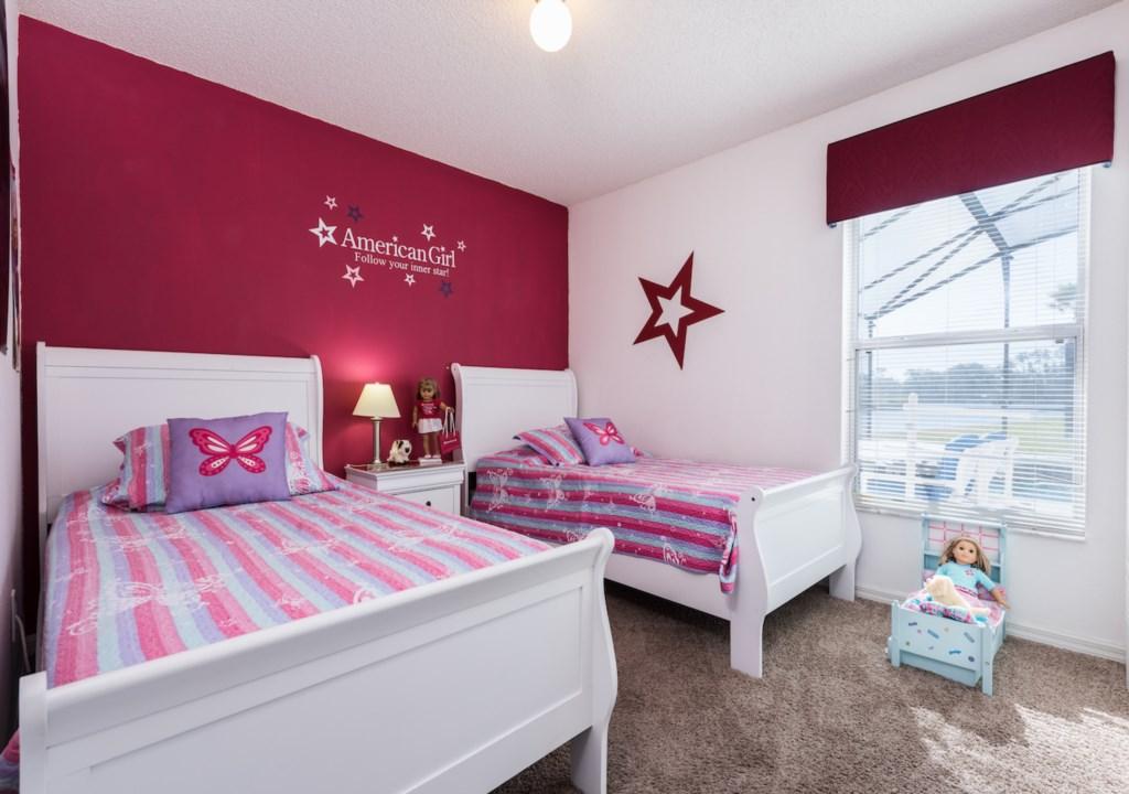 2 twins American girl room