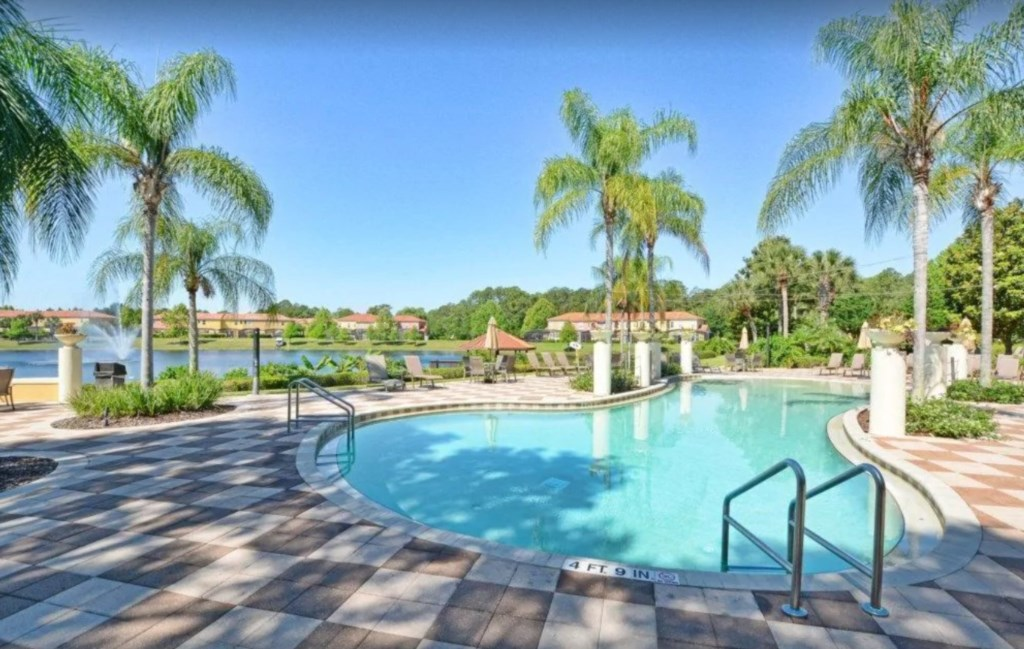 1 of 2 resort pools