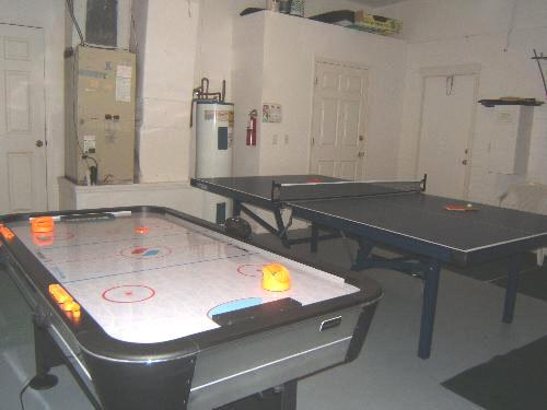 Games area with table tennis,
