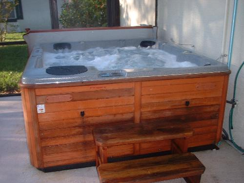hot tub with whirl pool jets